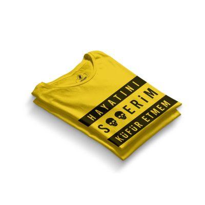 HH - Contra Hayatını S**erim Küfür Etmem Sarı T-shirt