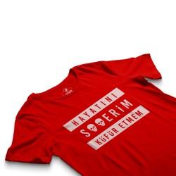 HH - Contra Hayatını S**erim Küfür Etmem Kırmızı T-shirt - Thumbnail