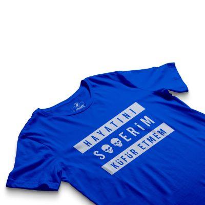 HH - Contra Hayatını S**erim Küfür Etmem Mavi T-shirt