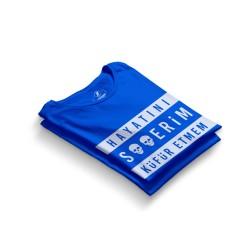 HH - Contra Hayatını S**erim Küfür Etmem Mavi T-shirt - Thumbnail