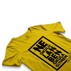 HH - Contra Ne Okulu Lan Sarı T-shirt - Thumbnail