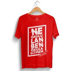 HH - Contra Ne Okulu Lan Kırmızı T-shirt - Thumbnail