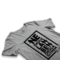 HH - Contra Ne Okulu Lan Gri T-shirt - Thumbnail