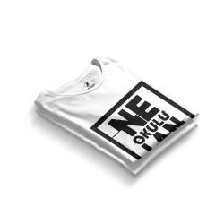 HH - Contra Ne Okulu Lan Beyaz T-shirt - Thumbnail