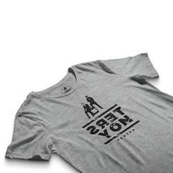 HH - Contra Ters Yön Gri T-shirt - Thumbnail