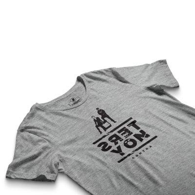 HH - Contra Ters Yön Gri T-shirt