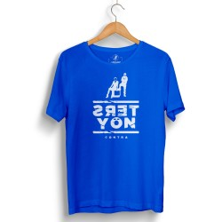 HH - Contra Ters Yön Mavi T-shirt - Thumbnail