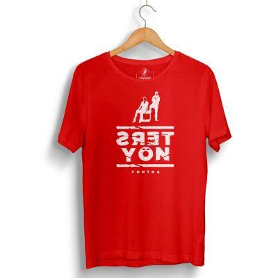 Contra - HH - Contra Ters Yön Kırmızı T-shirt
