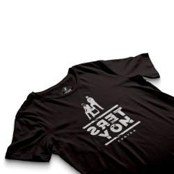 HH - Contra Ters Yön Siyah T-shirt - Thumbnail
