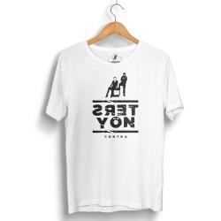 HH - Contra Ters Yön Beyaz T-shirt - Thumbnail