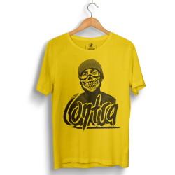 HH - Contra Portre Sarı T-shirt - Thumbnail
