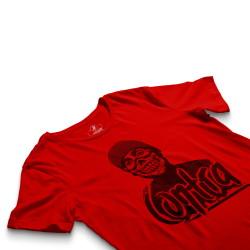 HH - Contra Portre Kırmızı T-shirt - Thumbnail