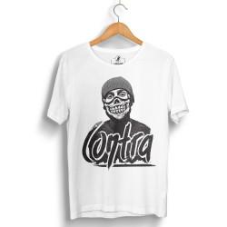 HH - Contra Portre Beyaz T-shirt - Thumbnail