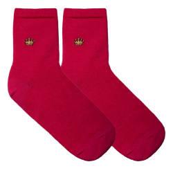 Crown Pembe Çorap - Thumbnail