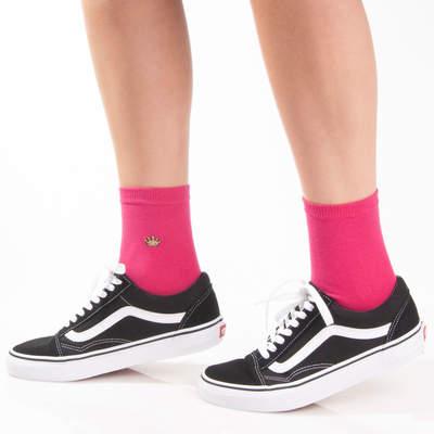 Crown Pembe Çorap