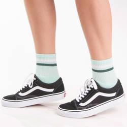 Çizgili Turkuaz Çorap - Thumbnail