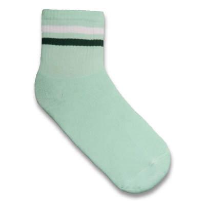 Çizgili Turkuaz Çorap