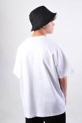 Dark Future Nakışlı Beyaz Oversize Erkek Tişört - Thumbnail