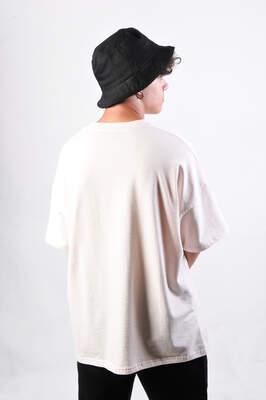 Dark Future Nakışlı Pembe Oversize Tişört