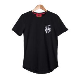 HollyHood - DFND Nakışlı Siyah T-shirt