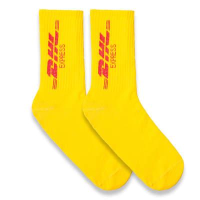 HollyHood - DHL Express Sarı Çorap