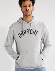 Drop Out Gri Hoodie - Thumbnail