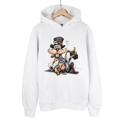 High - HH - High Drunk Rabbit Beyaz Hoodie