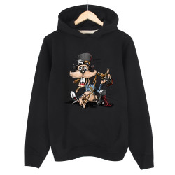 High - HH - High Drunk Rabbit Siyah Hoodie