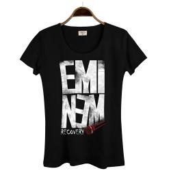 Groove Street - HollyHood - Groove Street Eminem Recovery Siyah Kadın T-shirt