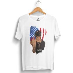 HollyHood - HollyHood - Eminem American Beyaz T-shirt