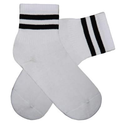 Siyah Çizgili Beyaz Çorap