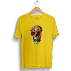 The Street Design - HollyHood - Street Design Flower Skull Sarı T-shirt
