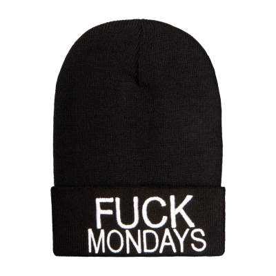 Fuck Monday Siyah Bere