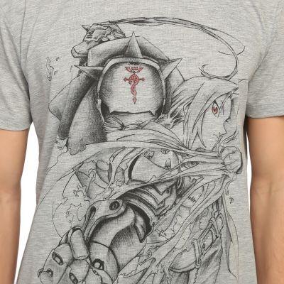 Bant Giyim - Fullmetal Alchemist Gri T-shirt