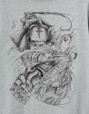 Bant Giyim - Fullmetal Alchemist Gri Hoodie