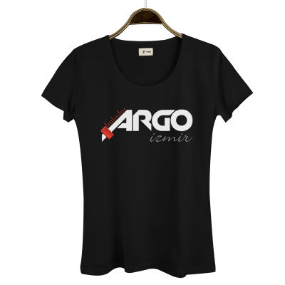 HH - Gazapizm Argo İzmir Kadın Siyah T-shirt
