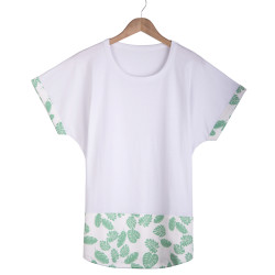 HollyHood - Leaf Long Fit Beyaz T-shirt