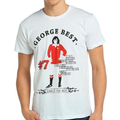 Bant Giyim - George Best Beyaz T-Shirt