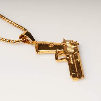 Gold Gun Kolye