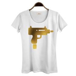 HollyHood - HollyHood - Gold Uzi Kadın Beyaz T-shirt