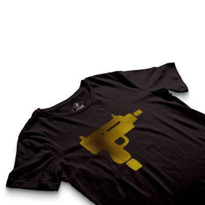 HH - Gold Uzi Siyah T-shirt