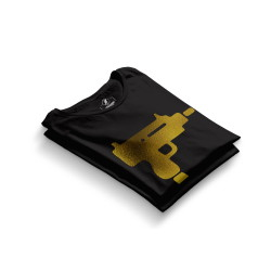 HH - Gold Uzi Siyah T-shirt - Thumbnail
