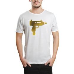 HH - Gold Uzi Beyaz T-shirt - Thumbnail