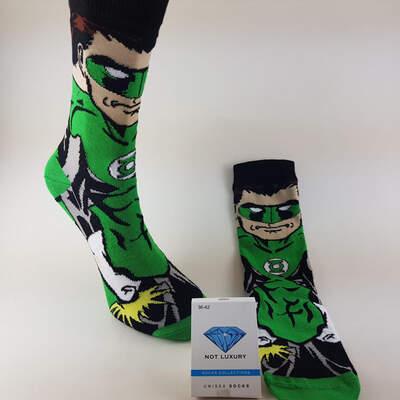 HollyHood - Green Lantern Siyah Çorap