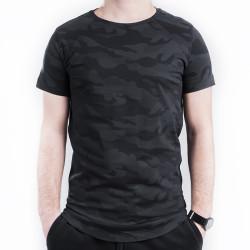 HollyHood - Gri & Siyah Kamuflaj T-shirt