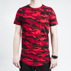 HollyHood - Kırmızı & Siyah Kamuflaj T-shirt