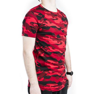 Kırmızı & Siyah Kamuflaj T-shirt