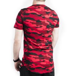 Kırmızı & Siyah Kamuflaj T-shirt - Thumbnail