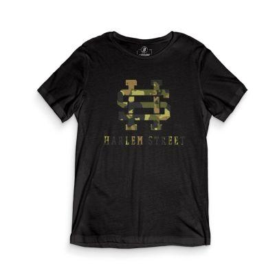 HH - Harlem Street Siyah T-shirt