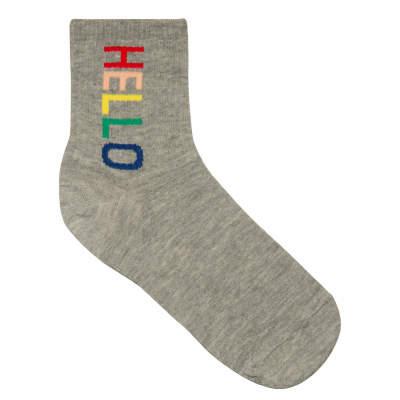 Hello Gri Çorap